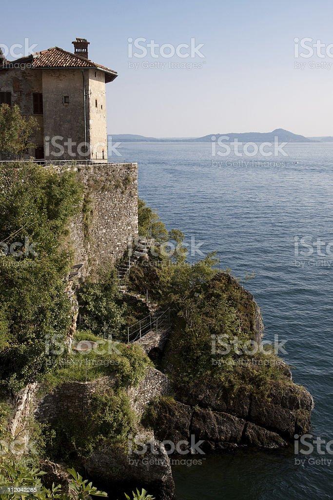 Eremo Santa Caterina del Sasso, Leggiuno - Italian Lake District royalty-free stock photo