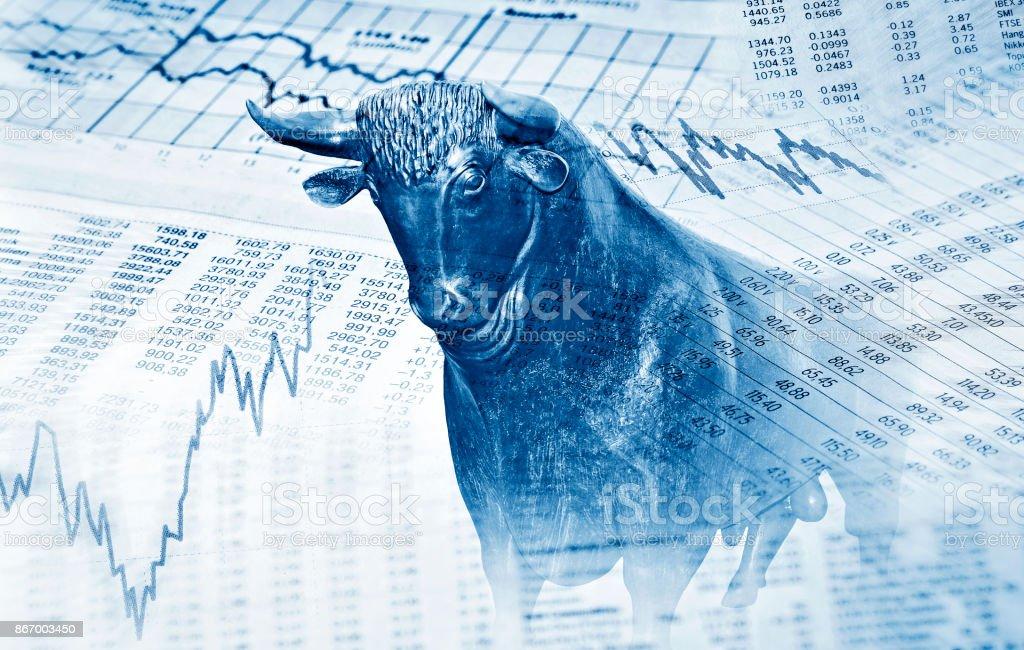Erfolg an der Börse stock photo