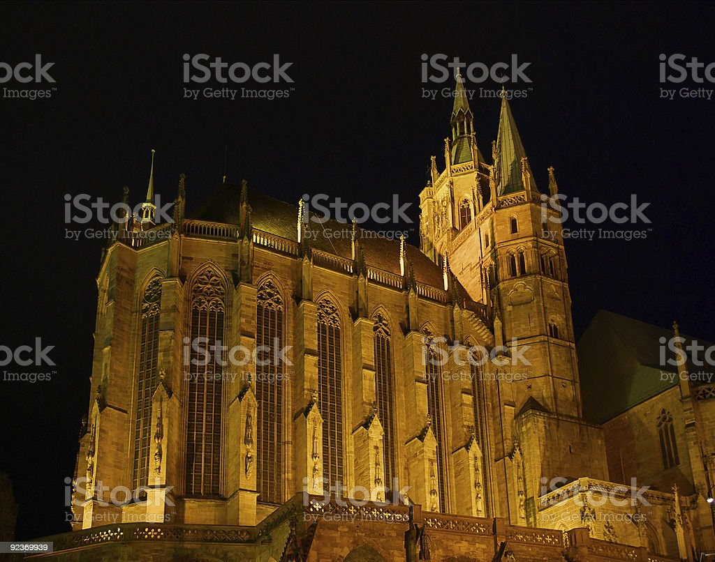 Erfurt cathedral royalty-free stock photo
