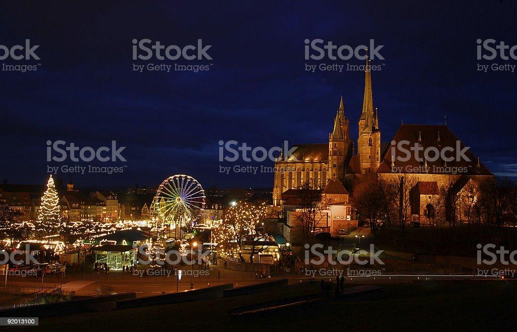 Erfurt chrismas market royalty-free stock photo