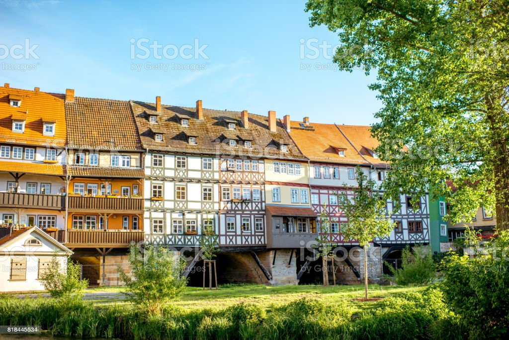Erfurt city in Germany stock photo