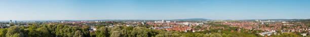 Erfurt City Panorama stock photo