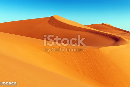 Sand dune in Erg Chebbi desert at sunrise,Merzouga, Morocco,North Africa.XXXL Nikon D3x