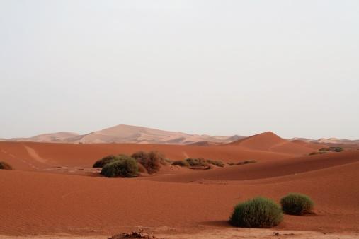 Historical Hoggar Rocky mountains in the Sahara desert
