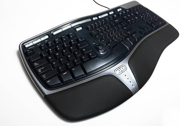 ergonomische tastatur - pengpeng stock-fotos und bilder