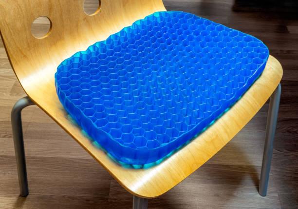 Ergonomic office chair pad. Seat pillow stock photo