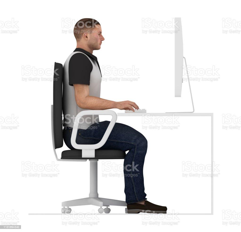 Fine Ergonomics Proper Posture To Sit And Work On Office Desk Beutiful Home Inspiration Aditmahrainfo