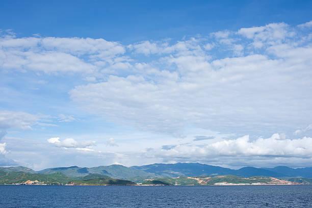 Erhai Lake scene Taken in the Dali Yunnan China stock photo