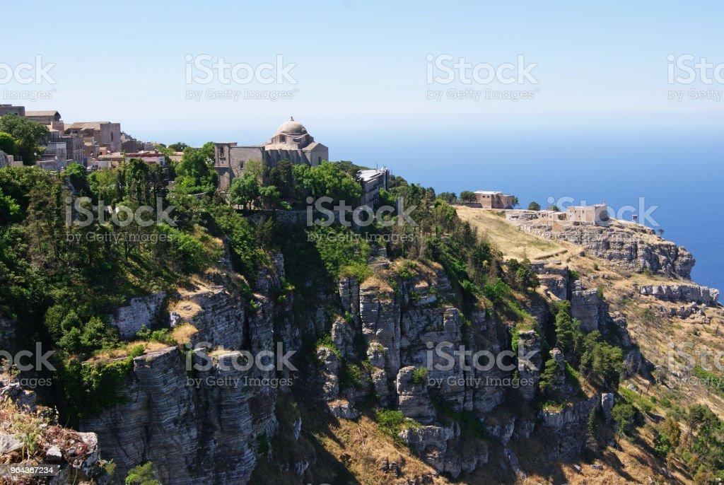 Erice na Sicília - Foto de stock de Antigo royalty-free