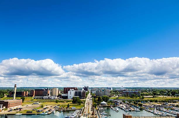 Erie Pennsylvania Panorama stock photo