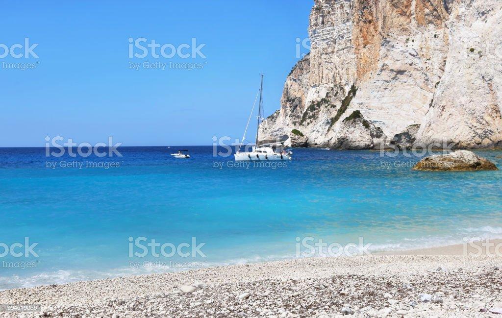 Erimitis praia ilha de Paxos Grécia - foto de acervo