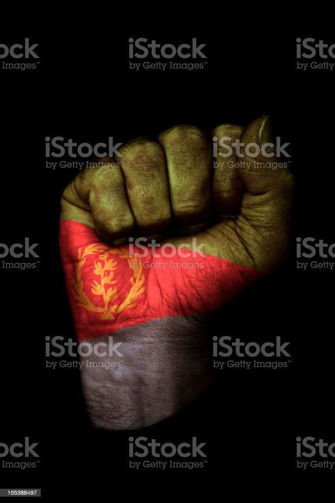 Eritrea Flag Fist royalty-free stock photo