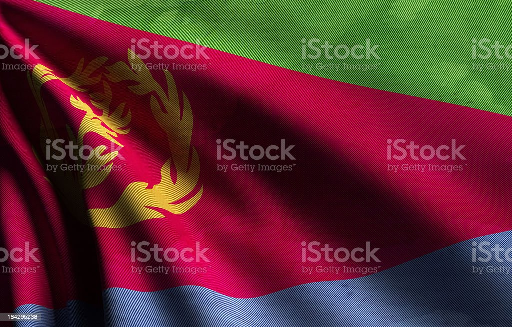 Eritrea Flag royalty-free stock photo