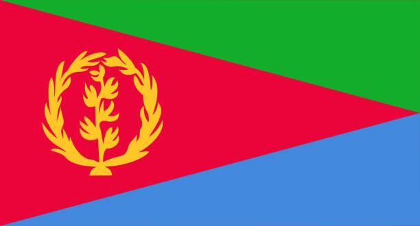 eritrea flag - eritrea stock photos and pictures