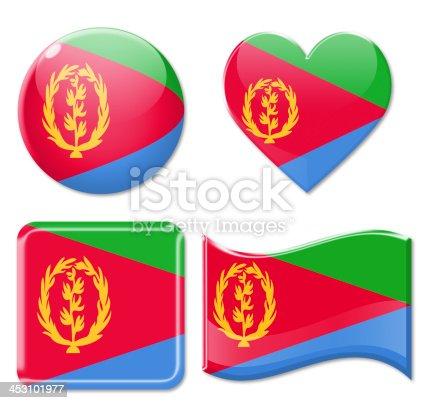 istock Eritrea Flags & Icon Set 453101977