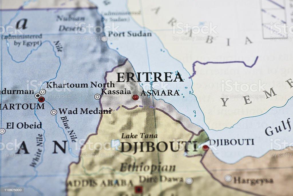 Eritrea map stock photo