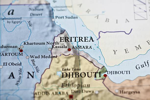 eritrea map - eritrea stock photos and pictures