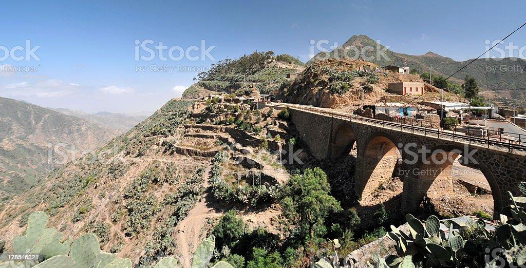 Eritrea, road from Asmara to Masawa stock photo