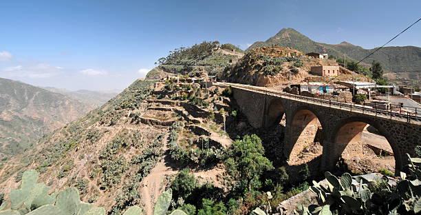 eritrea, road from asmara to masawa - eritrea stock photos and pictures