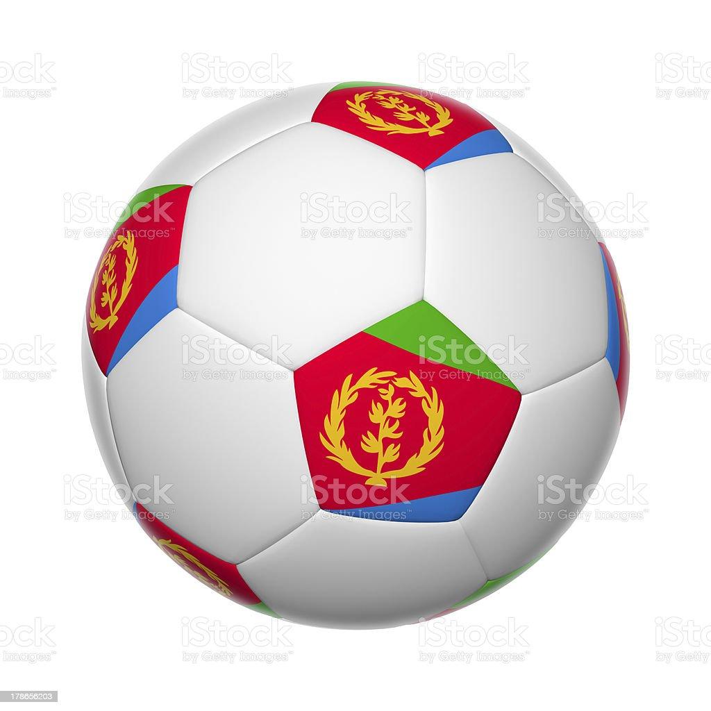 Eritrea soccer ball royalty-free stock photo