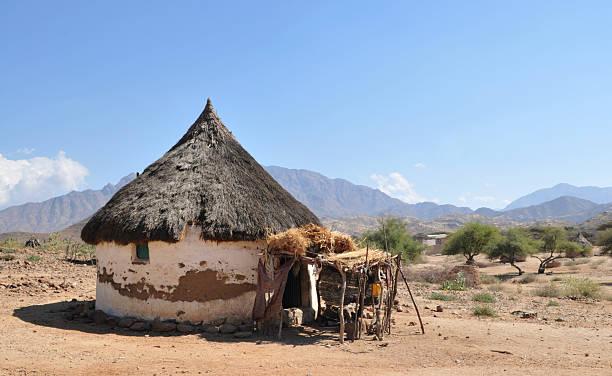 Eritrea, Traditional African Hut stock photo
