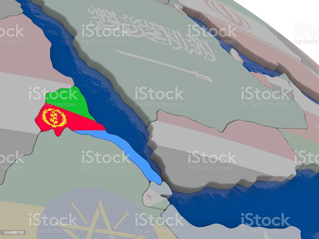 Eritrea with flag stock photo