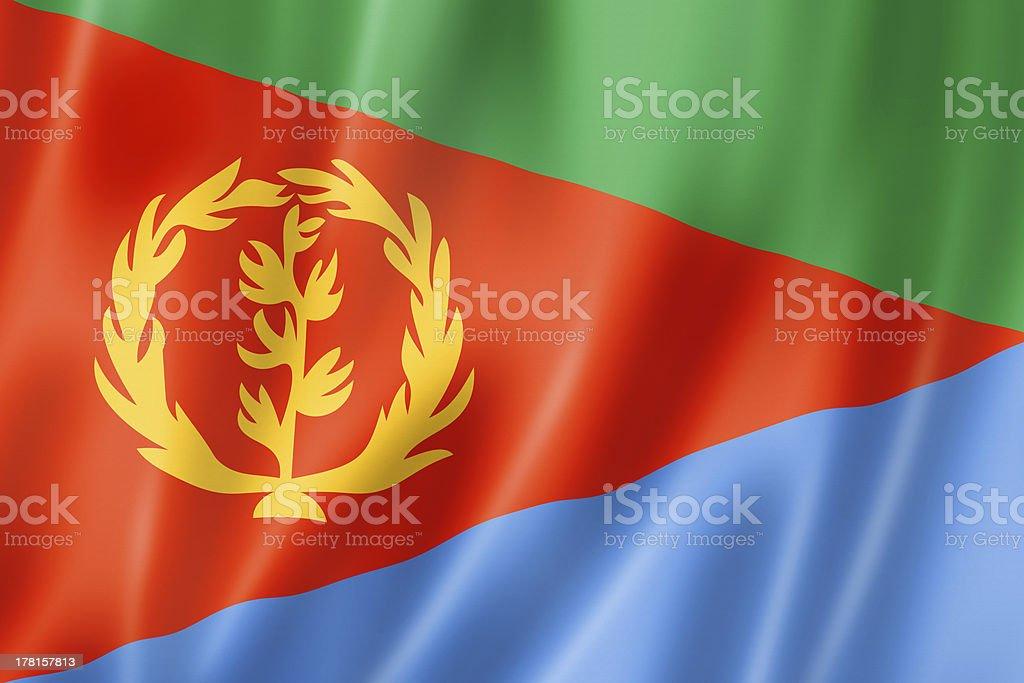 Eritrean flag royalty-free stock photo
