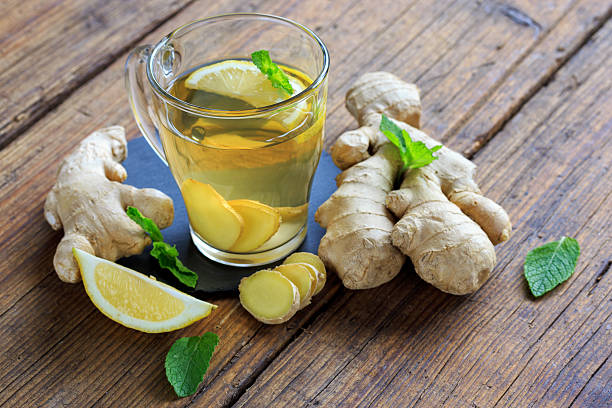 erkältungstee - ginger stock photos and pictures
