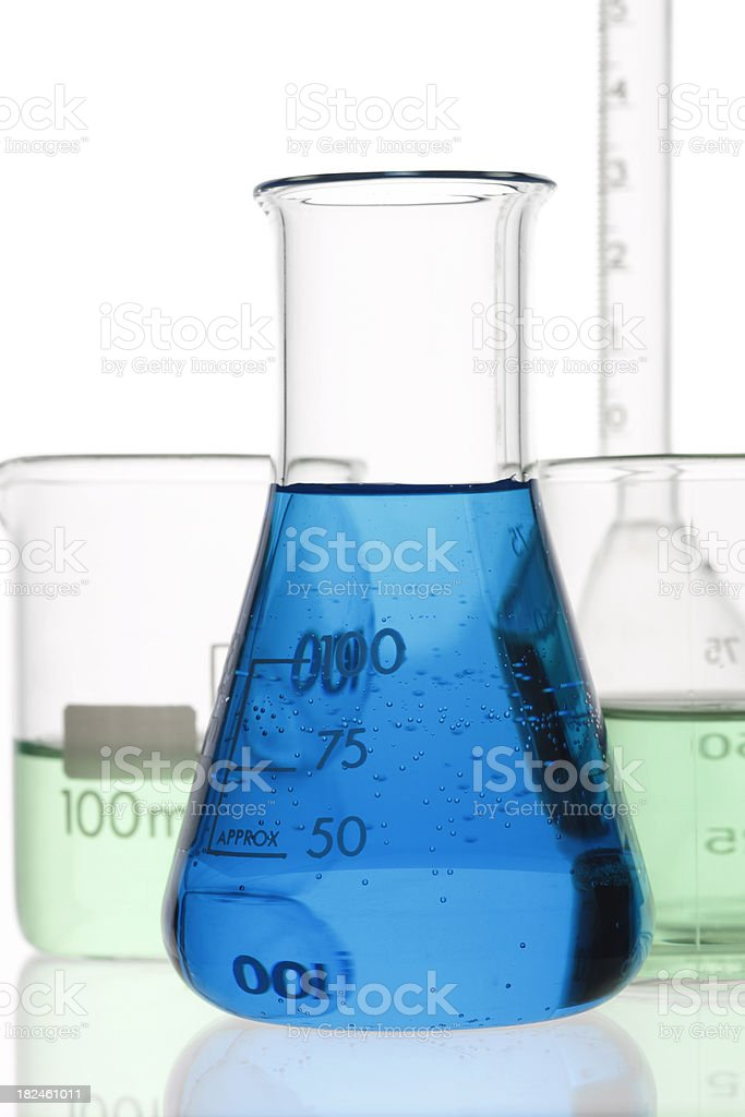 Erlenmeyer carregado foto royalty-free