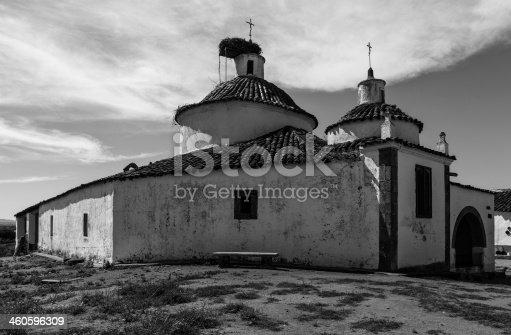istock Ermita de San Bartolomé  b/n 460596309