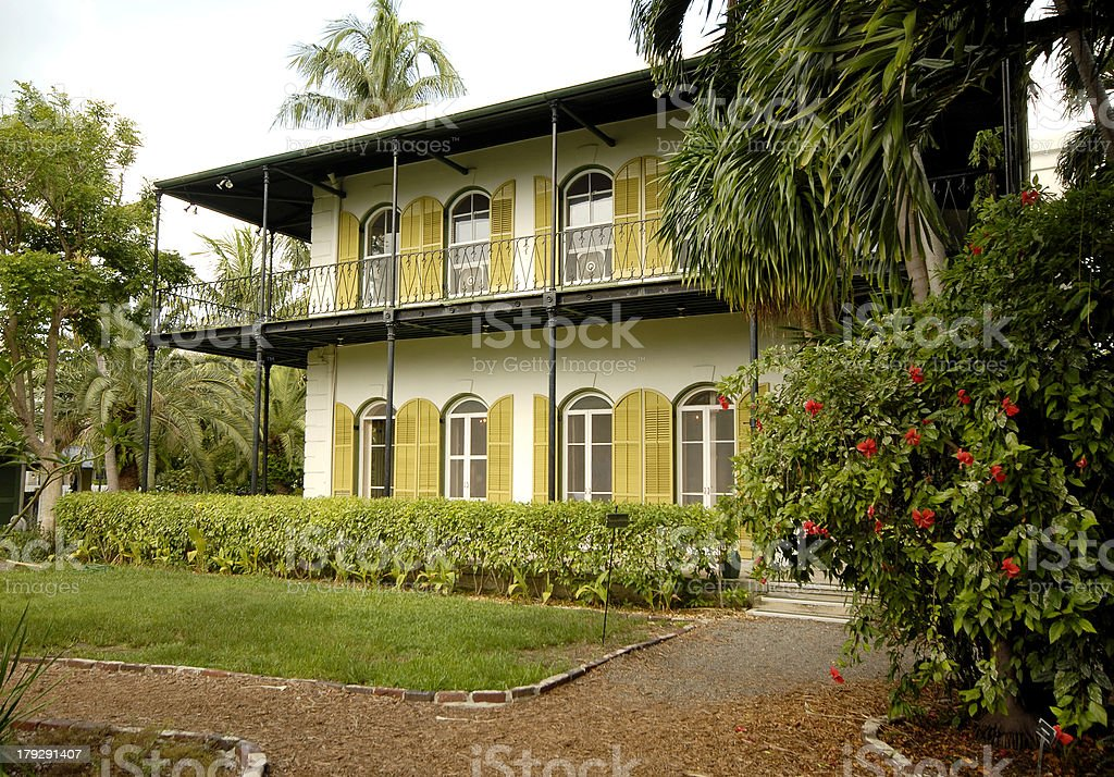 Ernest Hemingway House, Key West, Florida stock photo