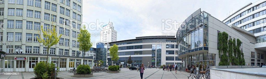 Ernst Abbe Platz in Jena, Germany stock photo