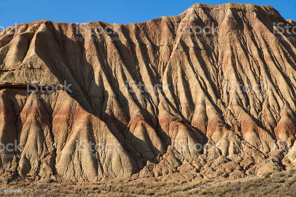 Eroded clay formations in Bardenas Reales stock photo
