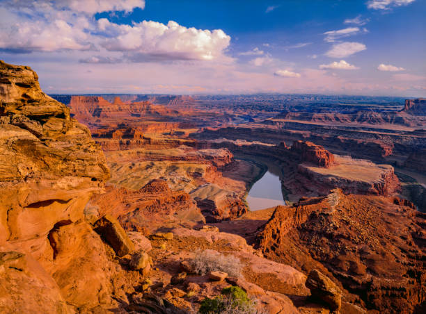 Eroded red rock formations Canyonlands NP. Utah stock photo