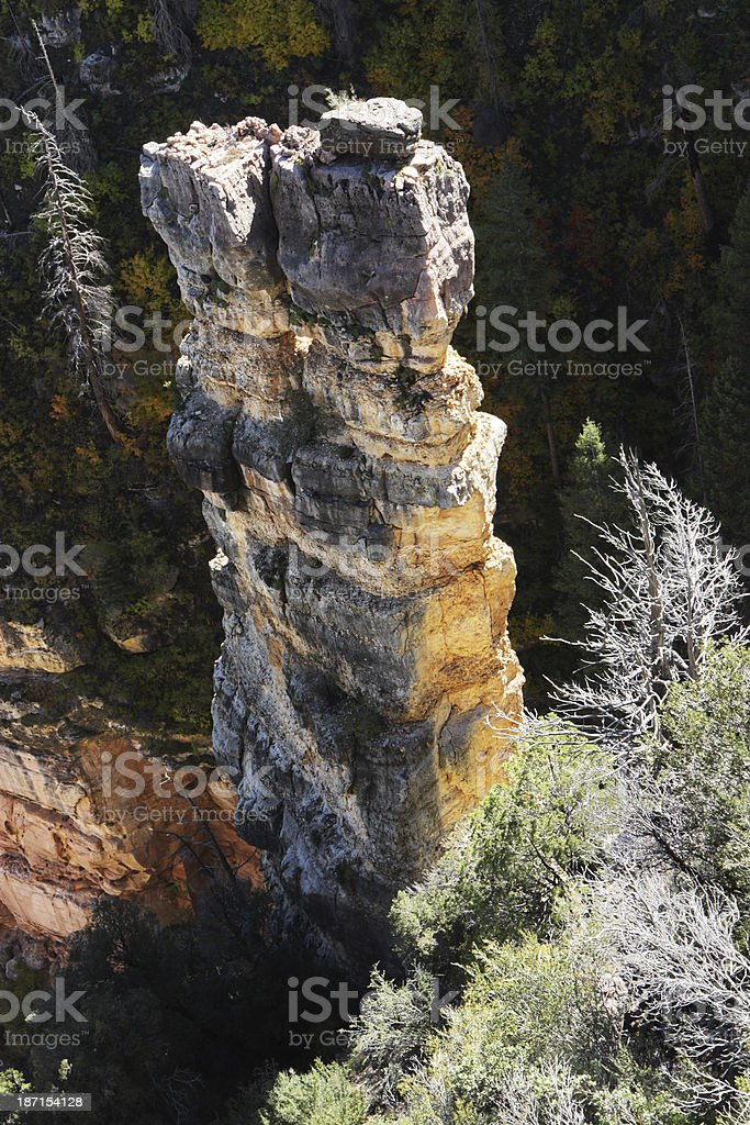Eroded Rock Hoodoo Wilderness Terrain royalty-free stock photo