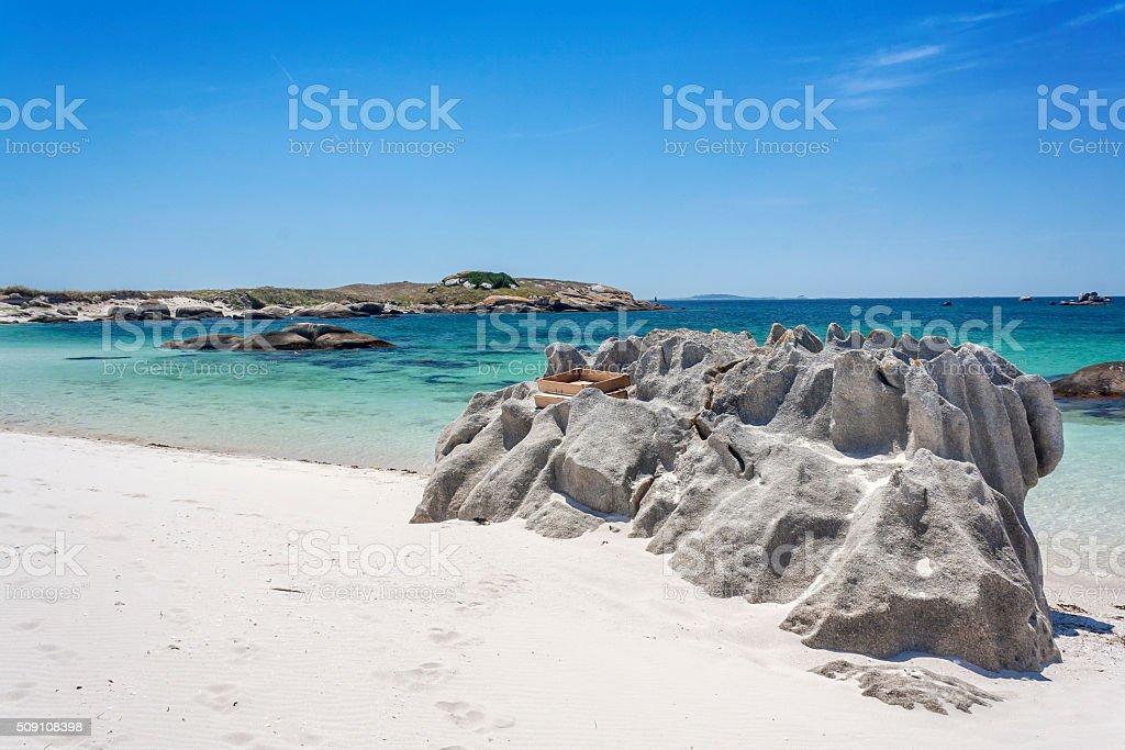Erosión de la roca en Areoso Isla - foto de stock