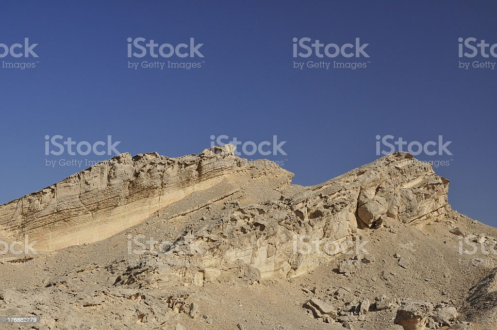 Eroded rocks near Al Ain royalty-free stock photo