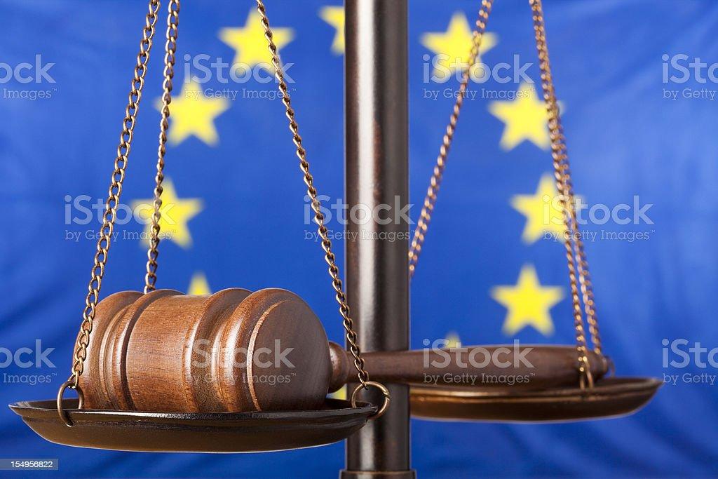 Eropean Justice royalty-free stock photo