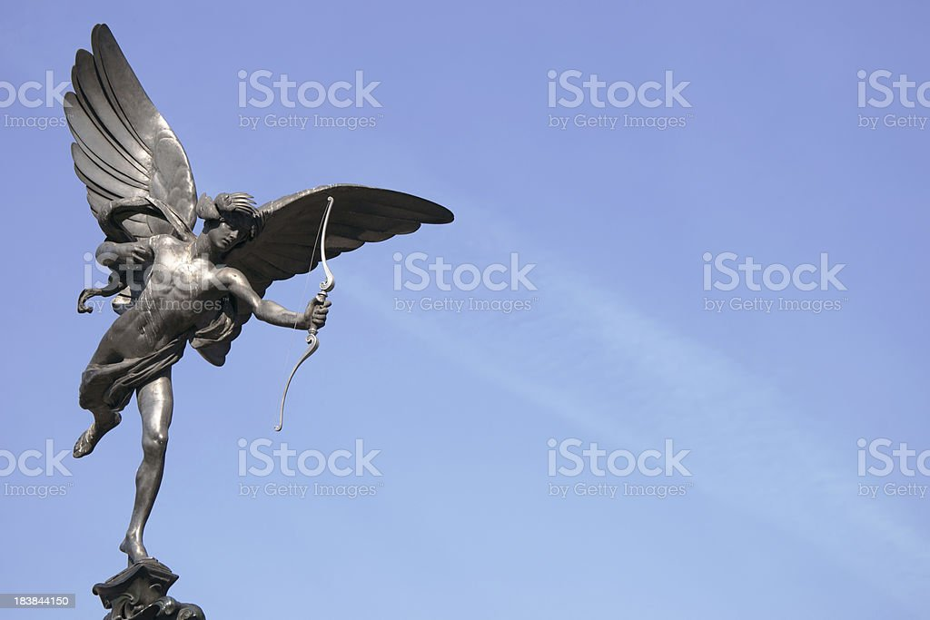 Eros - Cupid at Piccadilly Circus in London stock photo