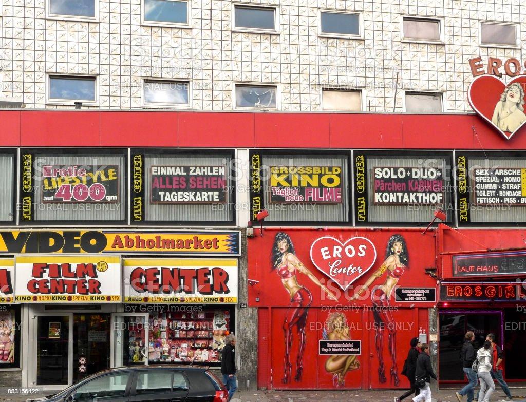 Club de noche de Eros Reeperbahn Hamburgo - foto de stock