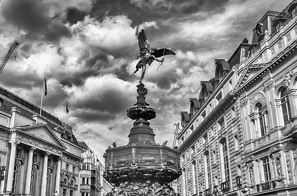 Statua di Eros, Piccadilly Circus, Londra - foto stock