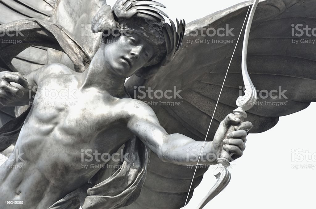 Eros Statue Detail london stock photo