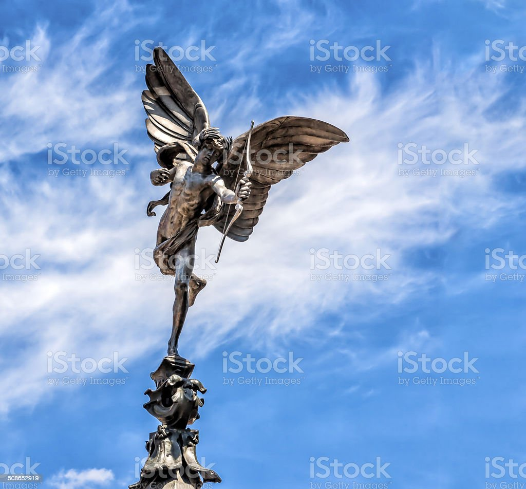 Eros statue,London stock photo