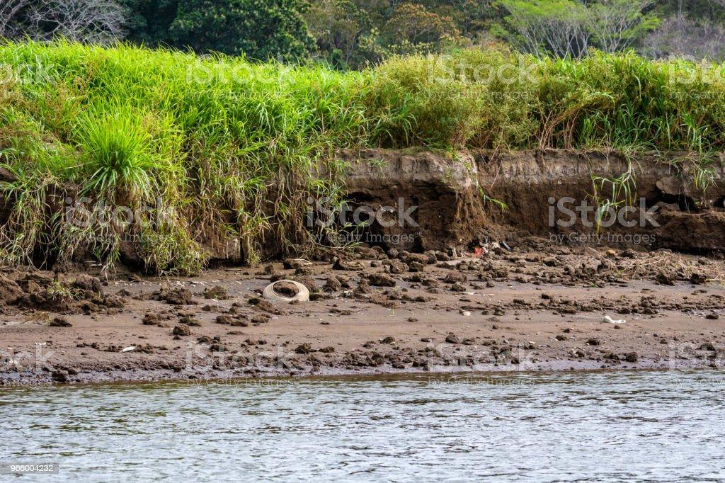 Erosion och föroreningar - Royaltyfri Centralamerika Bildbanksbilder