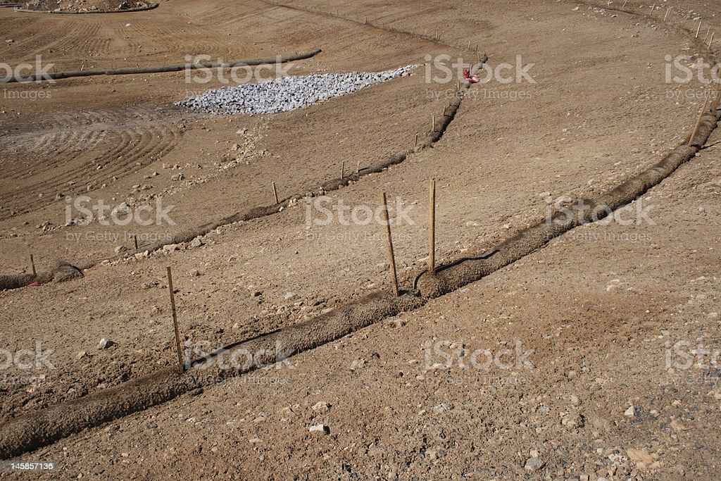 erosion control barriers stock photo