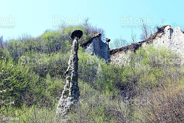Erosion Earth Pyramids Zone Italy Stock Photo - Download Image Now