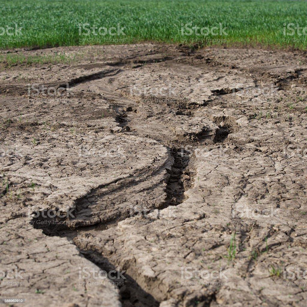 Erosion of land stock photo