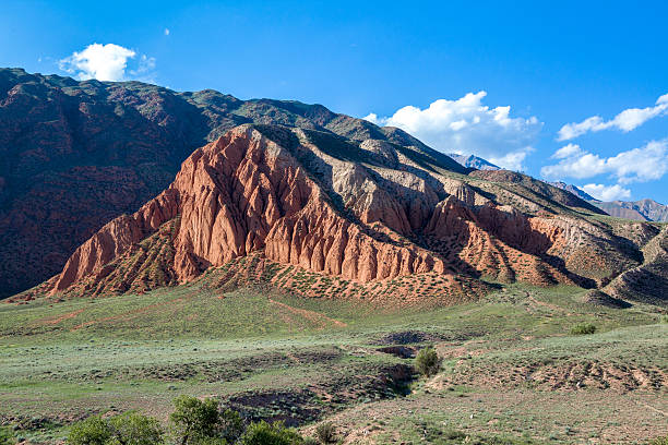 Erosion of mountains in Tien Shan stock photo