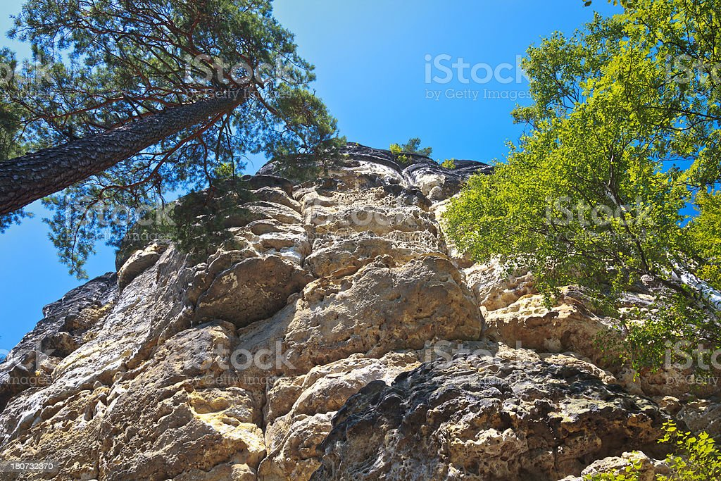 Erosion of the rocks royalty-free stock photo