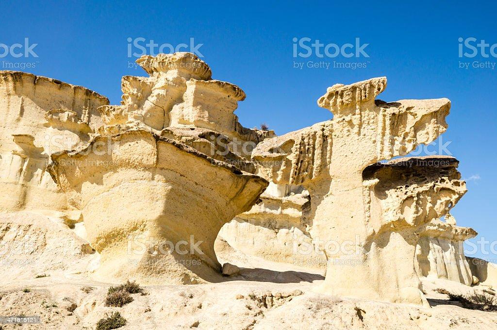 erosion on sandstone royalty-free stock photo